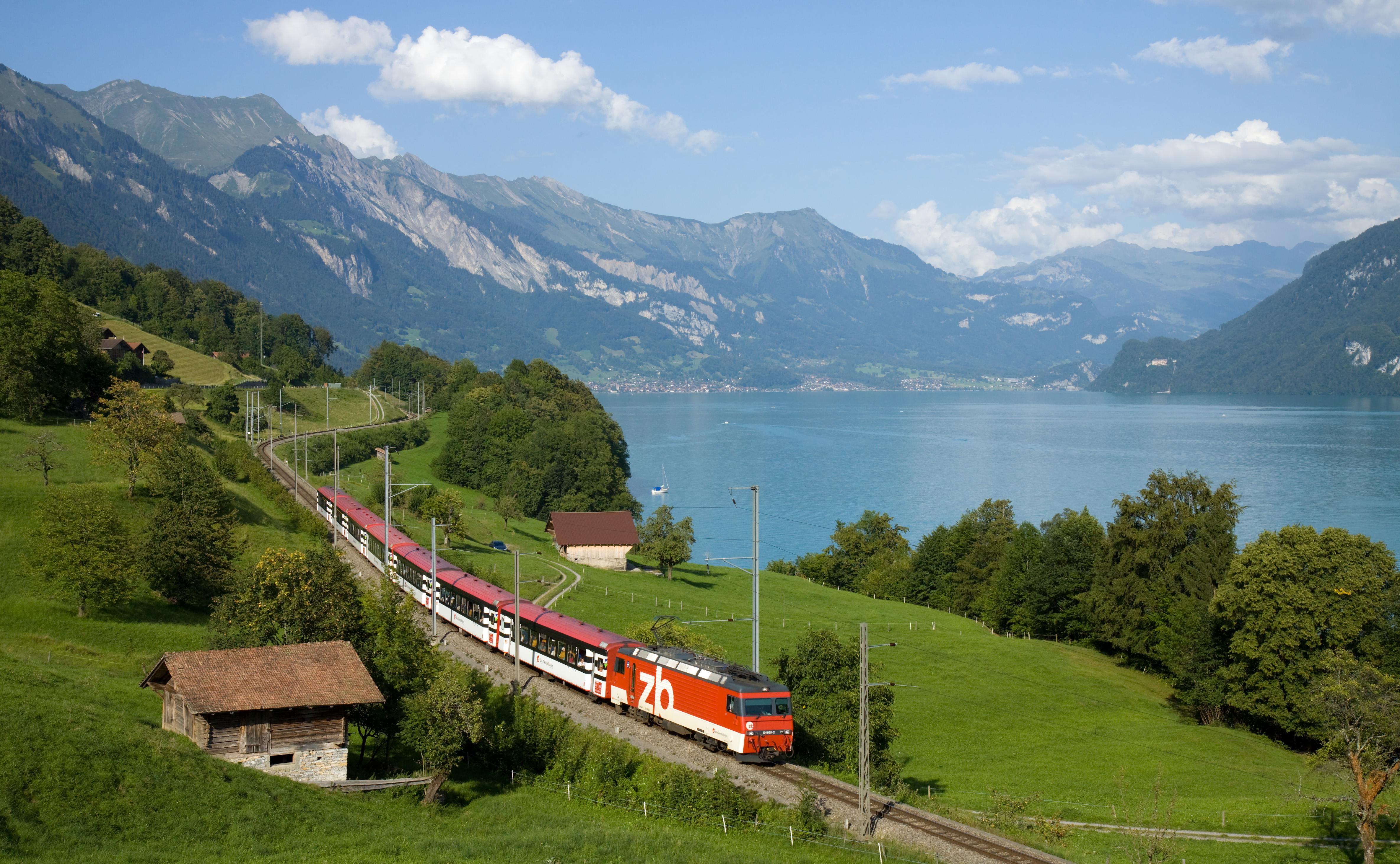 tåg till Alperna